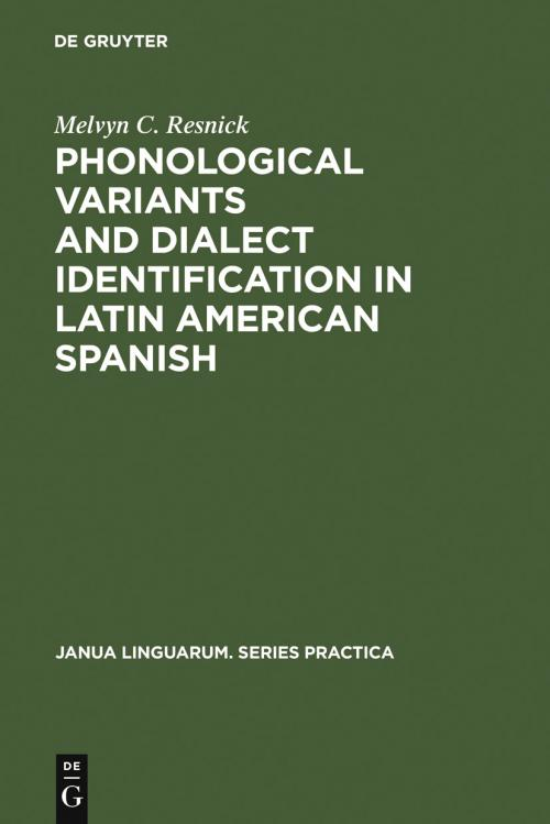 Phonological Variants and Dialect Identification in Latin American Spanish cover