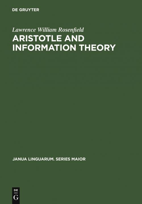 Aristotle and Information Theory cover