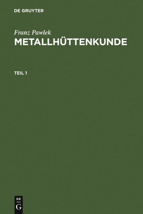 Metallhüttenkunde cover