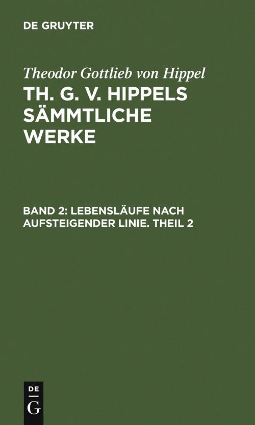 Lebensläufe nach aufsteigender Linie. Theil 2 cover