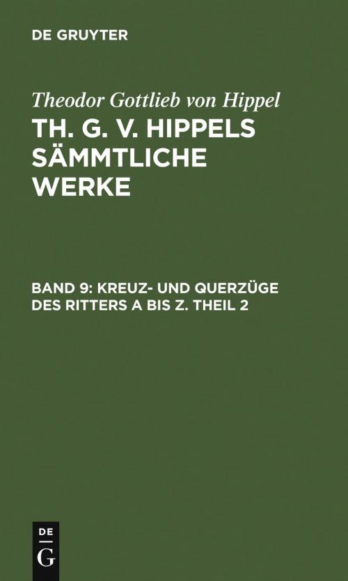 Kreuz- und Querzüge des Ritters A bis Z. Theil 2 cover