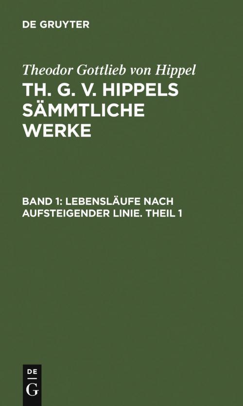 Lebensläufe nach aufsteigender Linie. Theil 1 cover