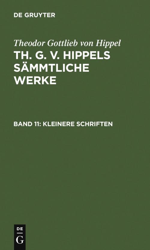 Kleinere Schriften cover