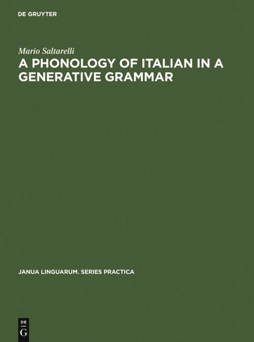 A Phonology of Italian in a Generative Grammar cover