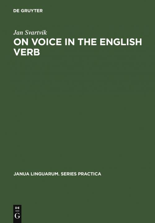 On Voice in the English Verb cover