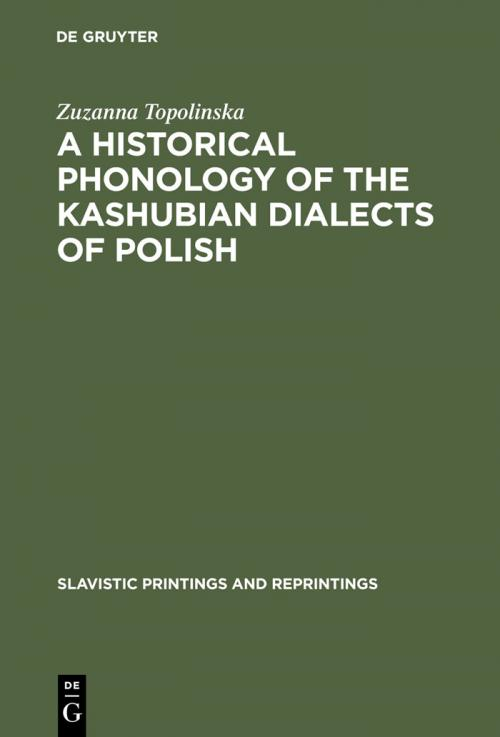 A Historical Phonology of the Kashubian Dialects of Polish cover