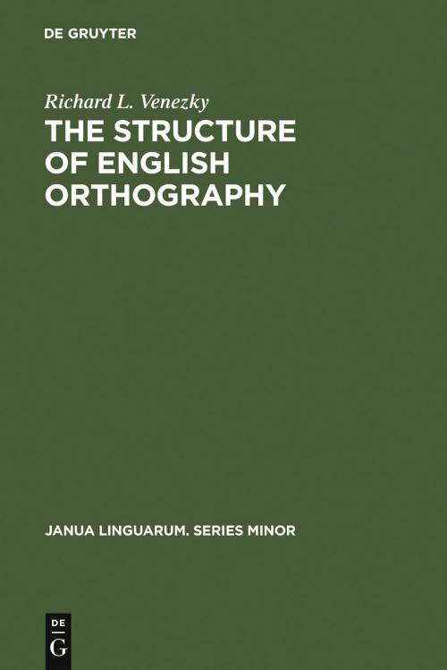 The Structure of English Orthography cover