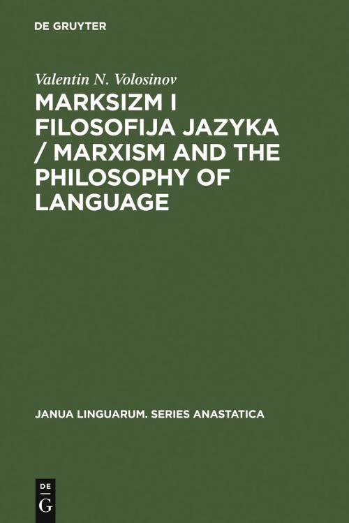 Marksizm i filosofija Jazyka / Marxism and the Philosophy of Language cover