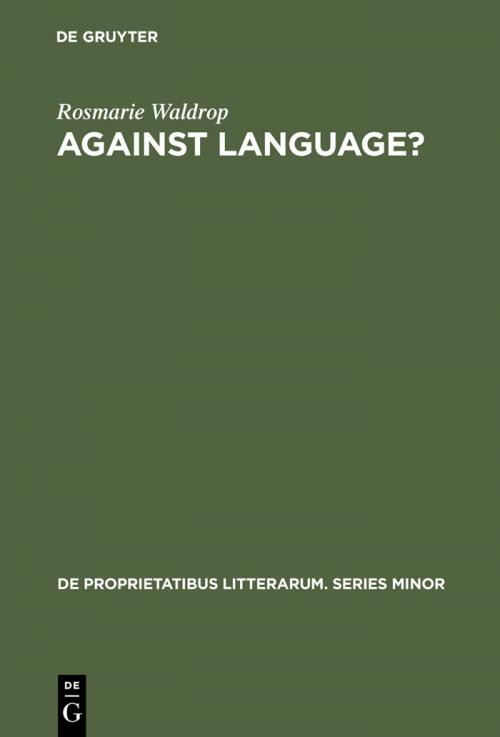 Against Language? cover
