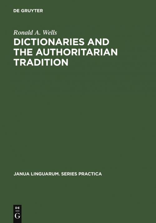 Dictionaries and the Authoritarian Tradition cover