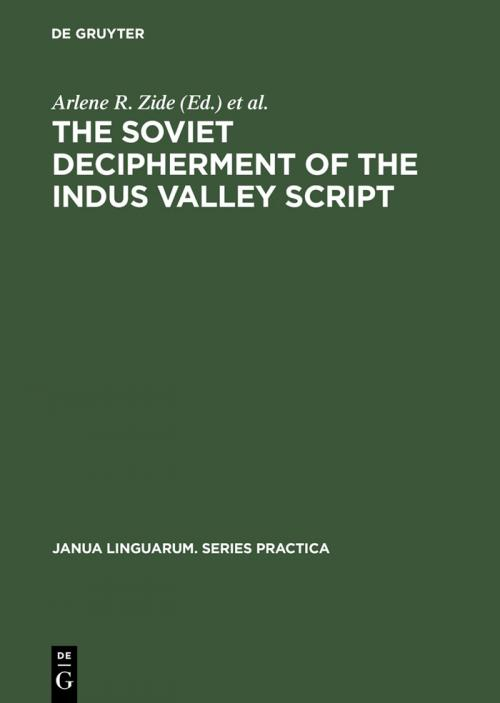 The Soviet Decipherment of the Indus Valley Script cover