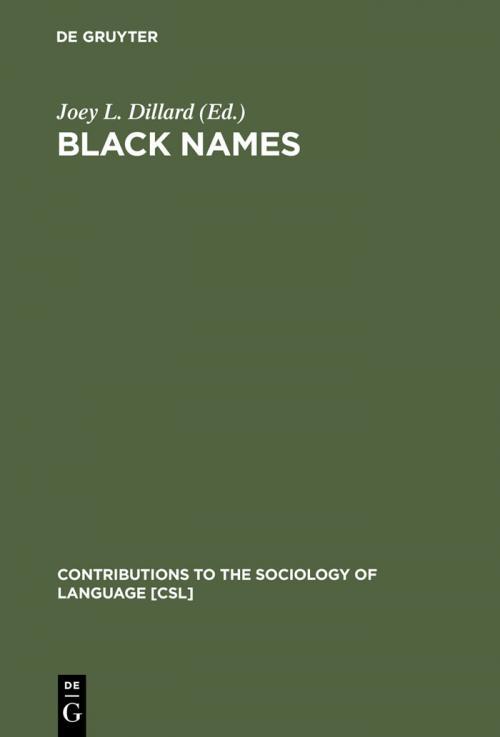 Black Names cover
