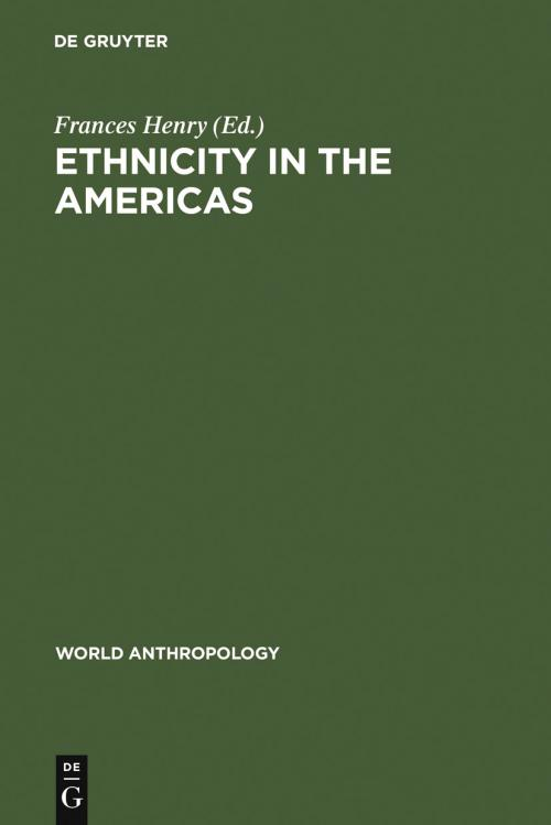 Ethnicity in the Americas cover