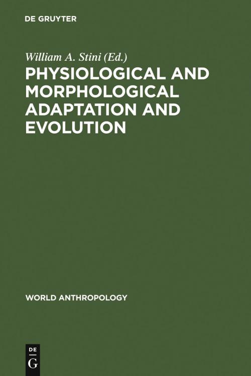 Physiological and Morphological Adaptation and Evolution cover