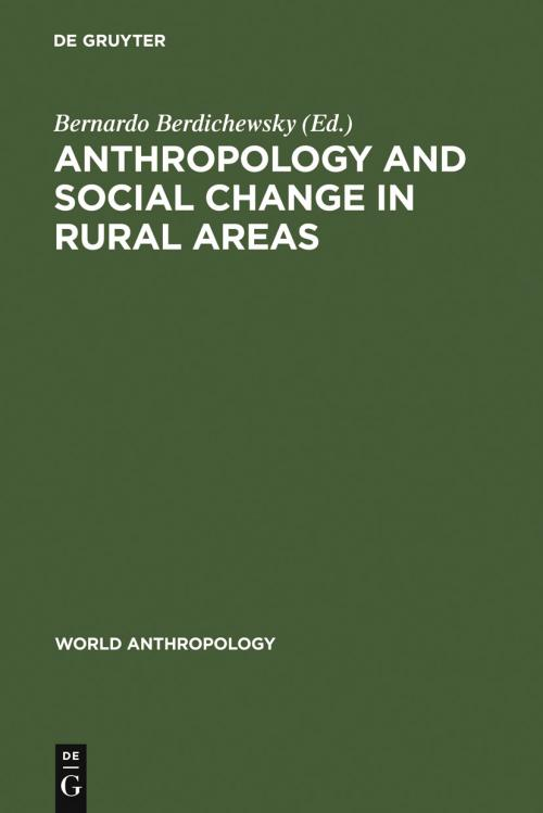 Anthropology and Social Change in Rural Areas cover