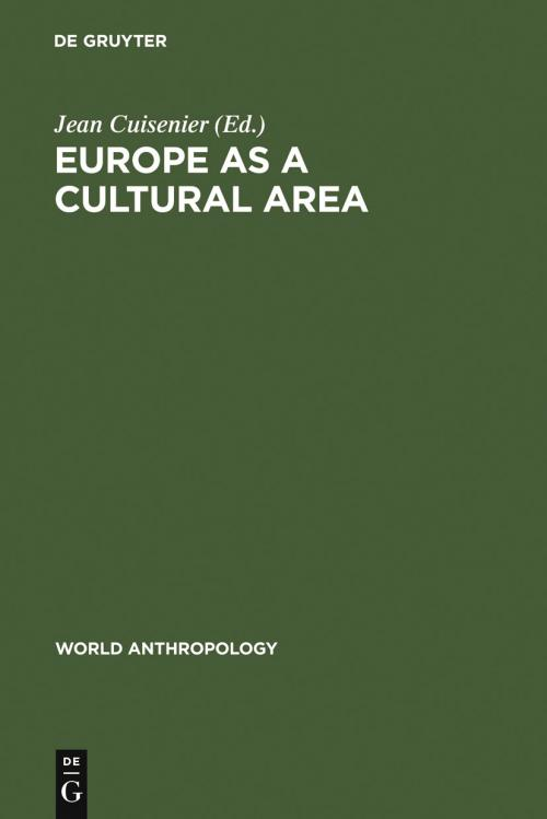 Europe as a Cultural Area cover