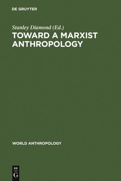 Toward a Marxist Anthropology cover