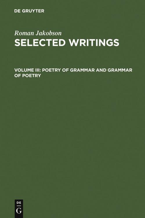 Poetry of Grammar and Grammar of Poetry cover