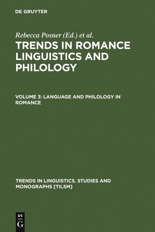 Language and Philology in Romance cover