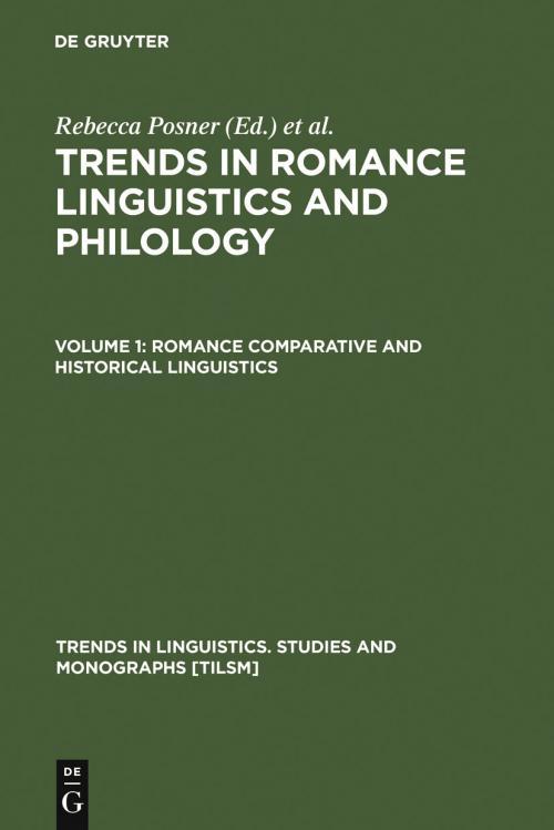 Romance Comparative and Historical Linguistics cover