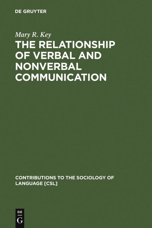 The Relationship of Verbal and Nonverbal Communication cover