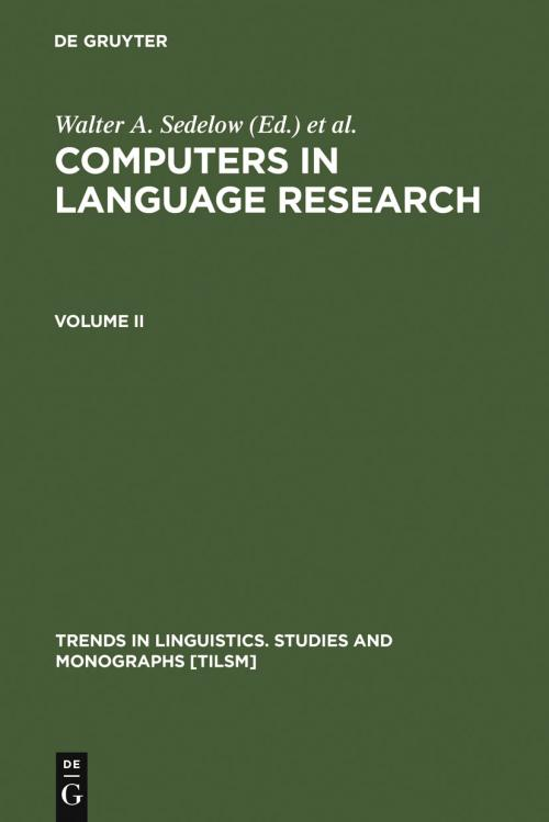 Computers in Language Research 2 cover