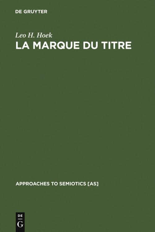 La marque du titre cover