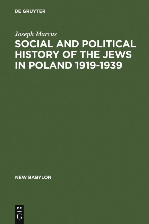 Social and Political History of the Jews in Poland 1919-1939 cover