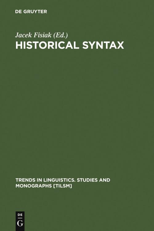 Historical Syntax cover