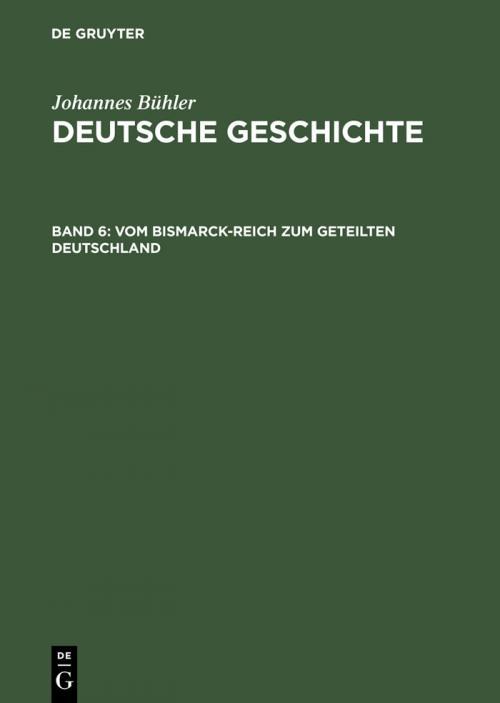 Vom Bismarck-Reich zum geteilten Deutschland cover