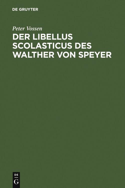 Der Libellus Scolasticus des Walther von Speyer cover