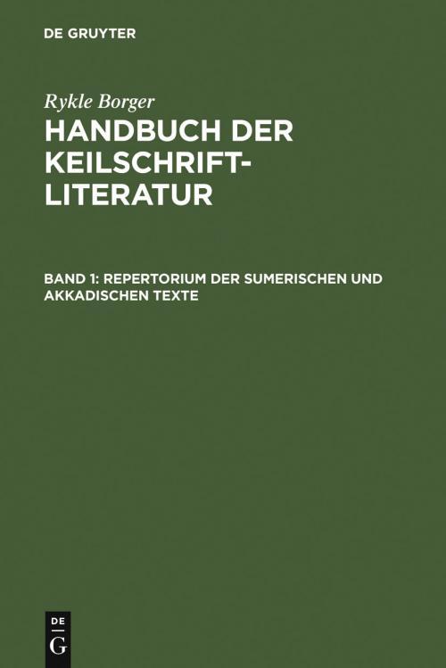Repertorium der sumerischen und akkadischen Texte cover