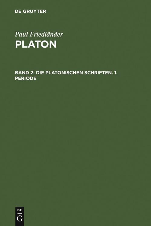Die platonischen Schriften, 1. Periode cover