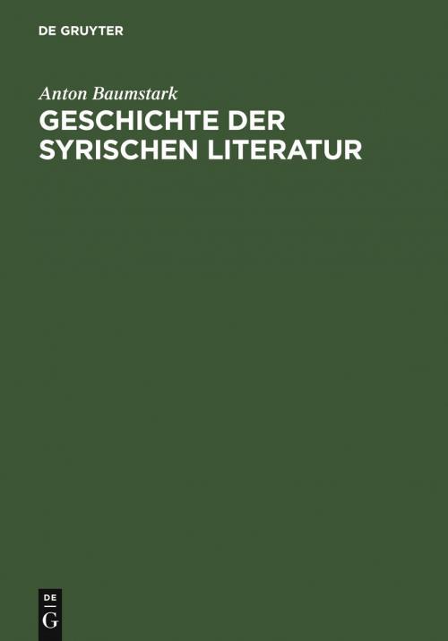 Geschichte der syrischen Literatur cover
