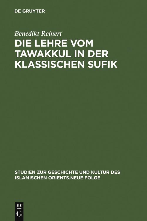 Die Lehre vom tawakkul in der klassischen Sufik cover