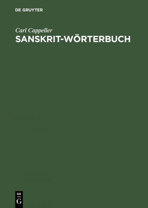 Sanskrit-Wörterbuch cover