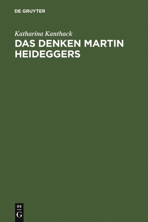 Das Denken Martin Heideggers cover