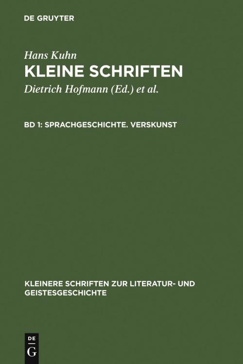 Sprachgeschichte. Verskunst cover