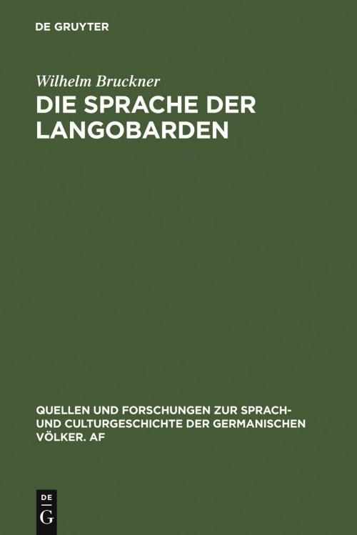 Die Sprache der Langobarden cover