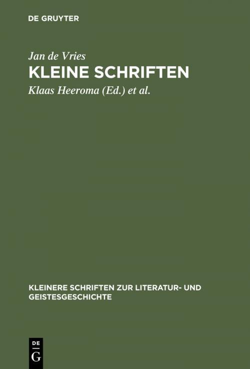 Kleine Schriften cover