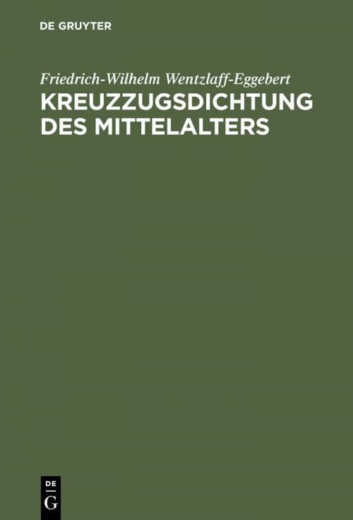 Kreuzzugsdichtung des Mittelalters cover