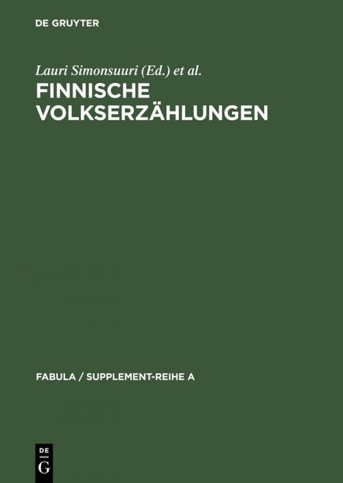 Finnische Volkserzählungen cover