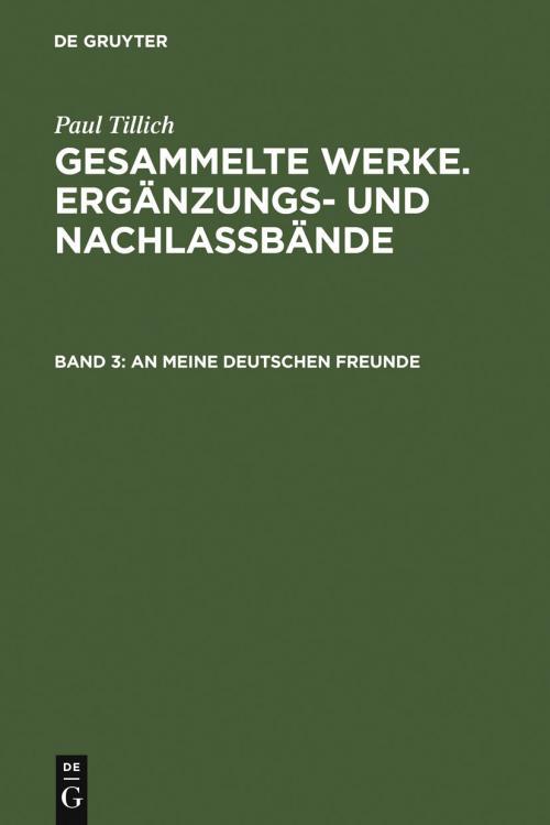 An meine deutschen Freunde cover