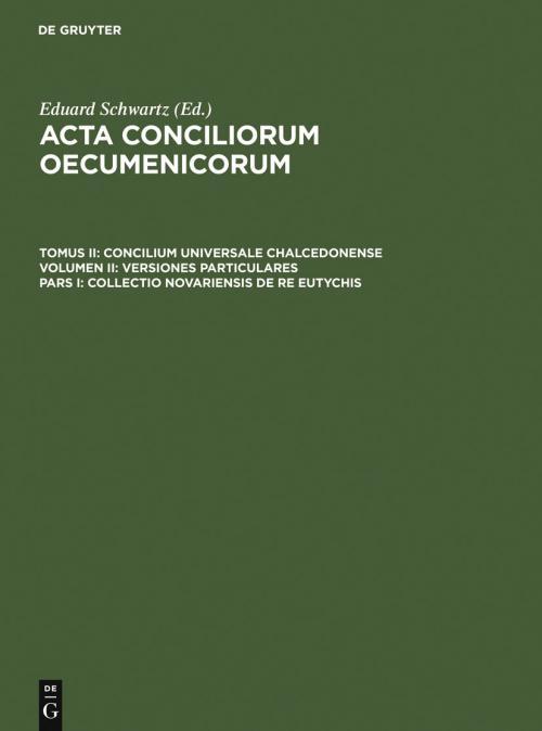 Collectio Novariensis de re Eutychis cover