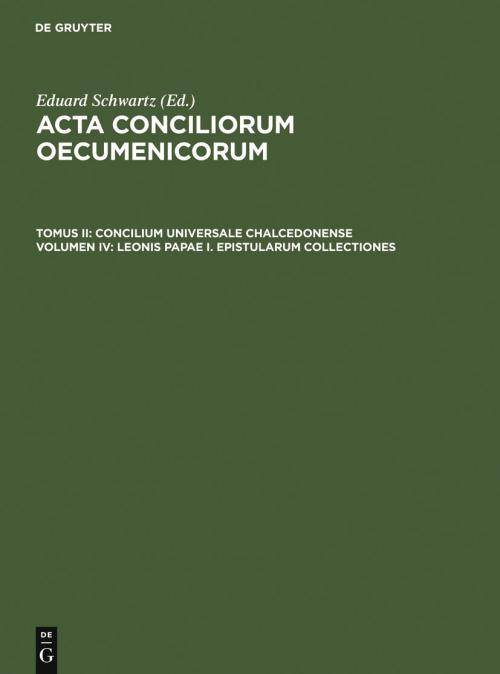 Leonis Papae I. epistularum collectiones cover