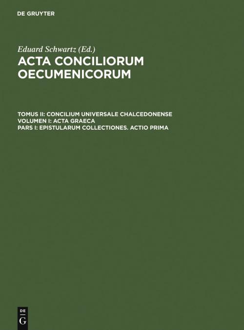 Epistularum collectiones. Actio prima cover