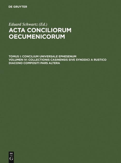 Collectionis Casinensis sive synodici a Rustico diacono compositi pars altera cover
