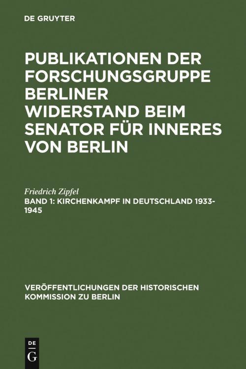 Kirchenkampf in Deutschland 1933-1945 cover