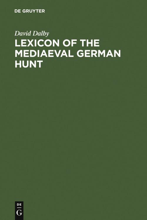 Lexicon of the Mediaeval German Hunt cover