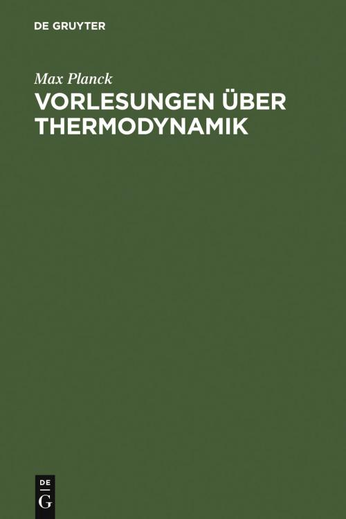 Vorlesungen über Thermodynamik cover